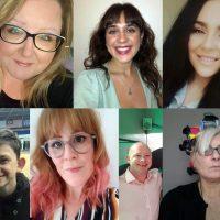 A montage of 7 portrait photos