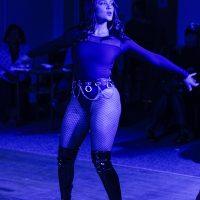 dancer in blue light