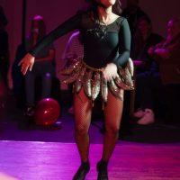 Yas dancing in banana skirt